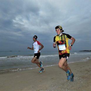 Jan Margarit y Mario Olmedo en la Mitja Marató Tarragona 2021, que se neutralizó