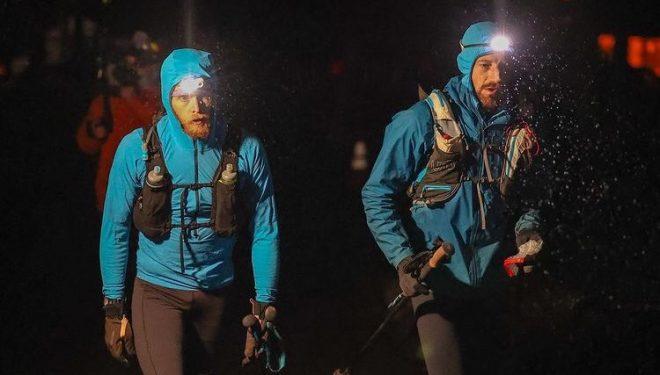 Jared Campbell (dcha) y Luke Nelson en la Barkley Marathons 2021
