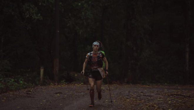 Maigua Ojeda en la cuarta etapa de Volcano Ultramarathon Costa Rica