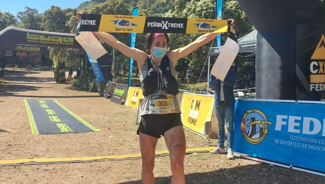 Oihana Kortazar en la Peñón Xtreme 2021, que ganó