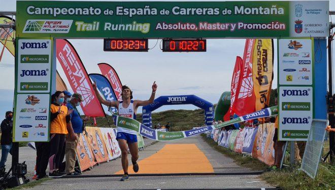 Jan Margarit en el Trail Costa Quebrada 2021, en el que se proclamó campeón de España de Carreras de montaña
