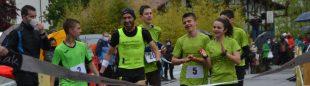 Oier Ariznabarreta y el equipo Manttale en el reto en el Medio Maratón de Bera en 2021