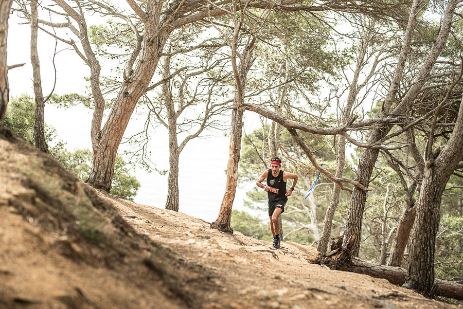 Romuald Brun en el Trail Costa Brava 2021