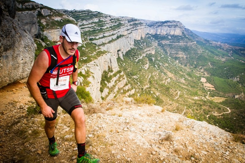 Un corredor de la Ultra Trail de la Serra de Montsant