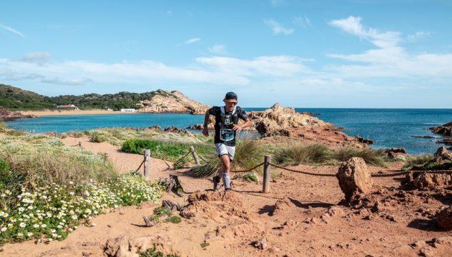 Pau Capell en la primera etapa de la Trail Menorca Camí de Cavalls 2021