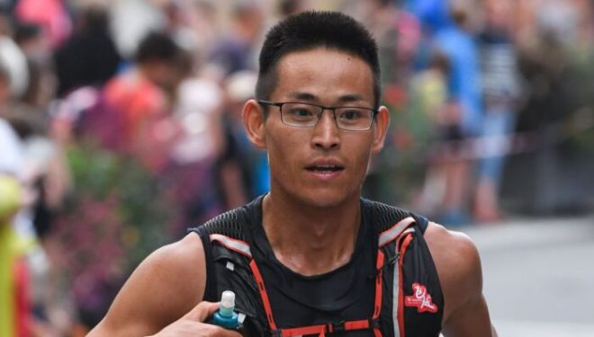 Jing Liang en el UTMB