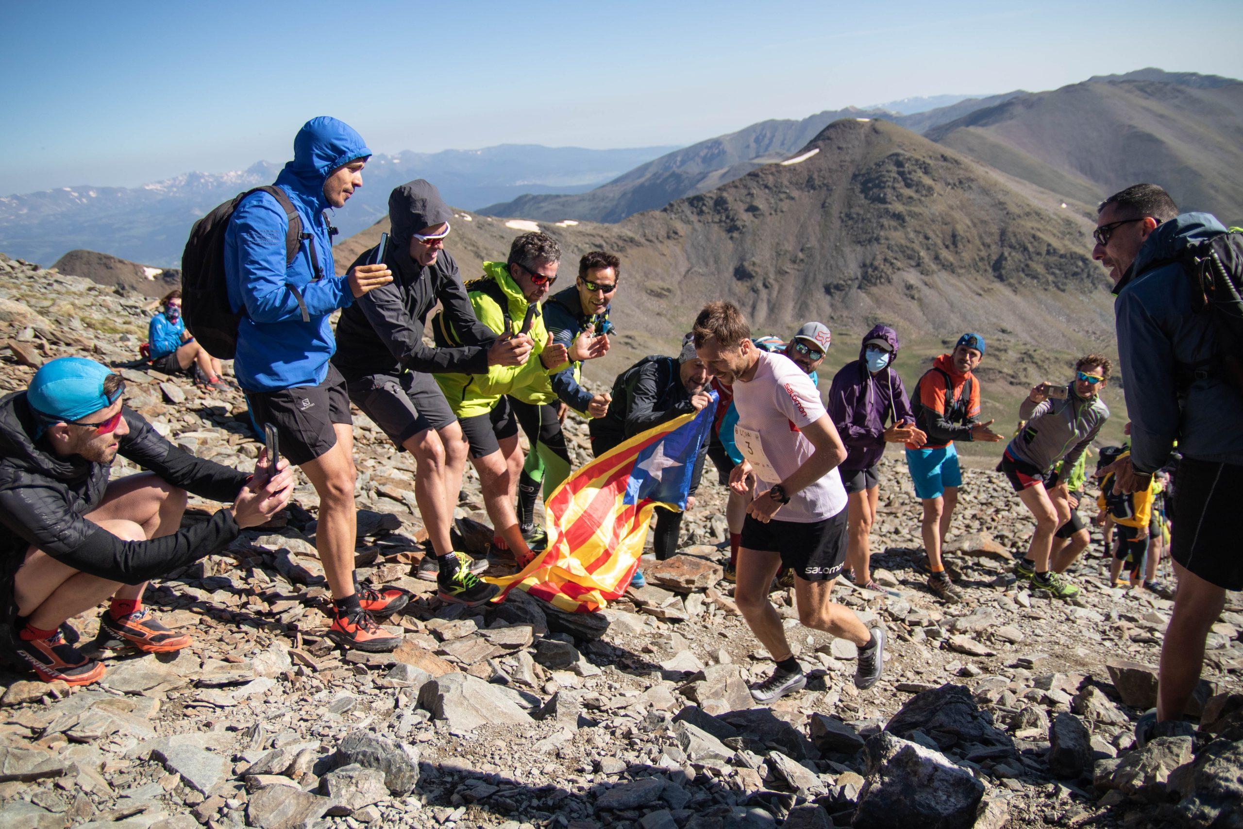Stian en la subida al Puigmal en L'Olla de Núria 2021