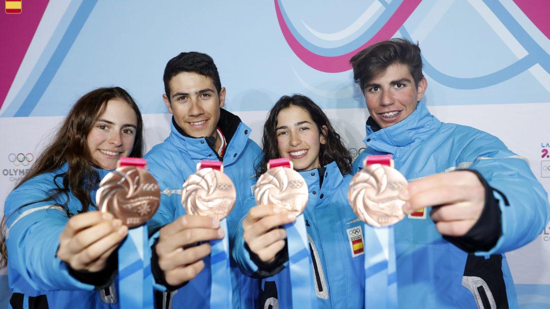 Ot Ferrer, Maria Costa, Marc Ràdua y Ares Torra en los Juegos Olímpicos de Invierno de Lausanne 2020
