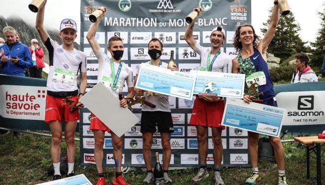 Podio masculino Marathon du Mont-Blanc