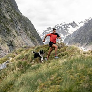 Manu Merillas entrenando en los alrededores del Mont Blanc