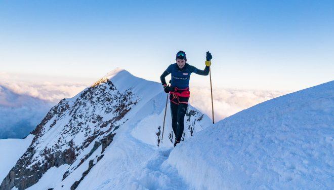 Manuel Merillas en el Mont Blanc, donde batió el récord en agosto de 2021