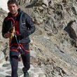 Manuel Merillas en su intento de récord al Mont Blanc