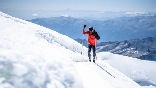 Manuel Merillas en el Monte Rosa, donde batió el récord en agosto de 2021
