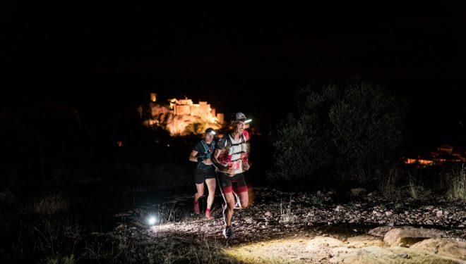 Agustín Luján perseguido por otro corredor en Ultra Trail Guara Somontano 2019