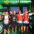 Los 4 primeros clasificados en la meta de la primera etapa de Ultra Sanabria 2021